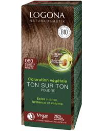 Logona Coloration végétale Ton sur Ton Noisette Cuivrée foncée 060 poudre 100gr soin colorant Pharma5avenue