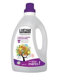 L Artisan Savonnier Lessive liquide concentrée 1.5 L blanc couleur machin à la main Pharma5avenue