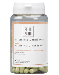 Belle et Bio Vitamines et minéraux naturels 120 gélules action tonus et vitalité Pharma5avenue