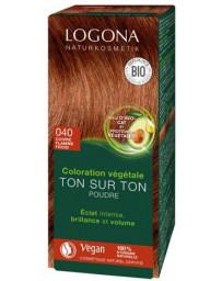 Logona Coloration végétale Ton sur Ton 040 poudre Cuivre flamme froid 100gr soin colorant Pharma5avenue