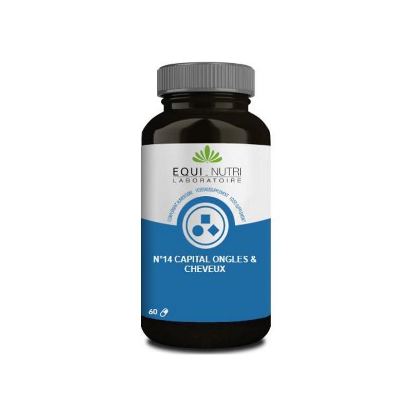 Equi Nutri No 14 Capital ongles cheveux 60 gélules végétales cystéine silicium Pharma5avenue