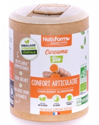 Nat et Form Curcuma Pipérine Bio 200 gélules ECO