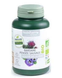 Nat et Form Complexe Bardane Pensée Sauvage bio 200 gélules beauté pureté Pharma5avenue
