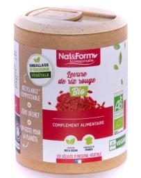 Nat et Form Levure de riz rouge Bio 120 gélules monacoline K Pharma5avenue