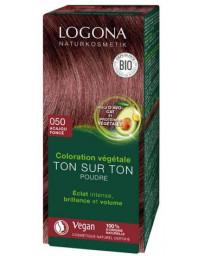 Logona Coloration végétale Ton sur Ton Acajou foncé 050 100gr soin colorant Pharma5avenue