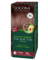 Logona Coloration végétale Ton sur Ton en poudre 070 Marron doré 100gr soin colorant brillance Pharma5avenue