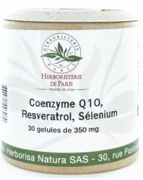 Herboristerie de paris Coenzyme Q10 Fort Resveratrol Sélénium 30 Gélules ubiquinone antioxydant Pharma5avenue