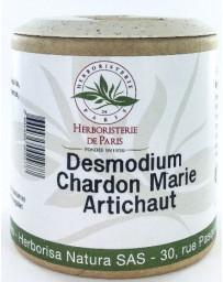 Herboristerie de paris Desmodium Chardon marie Curcuma Artichaut 200 gélules génie hépatique Pharma5avenue
