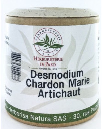 Herboristerie de paris Desmodium Chardon marie Curcuma Artichaut 200 gélules