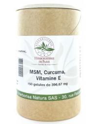 Herboristerie de Paris M.S.M Curcuma Vitamine E 150 gélules