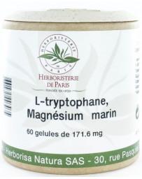 Herboristerie de Paris L Tryptophane Magnésium marin Vitamines E B6 60 Gélules sérénité plénitude Pharma5avenue