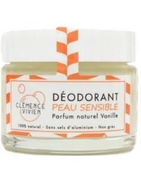 Clémence et Vivien Baume déodorant Peau sensible à la Vanille 50gr déodorant naturel Pharma5avenue