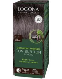 Logona Coloration végétale Ton sur Ton Noir Intense 101 en poudre 100gr soin colorant Pharma5avenue