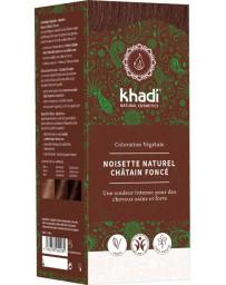 Khadi Coloration végétale Noisette Naturel Châtain foncé 100 gr cheveux chatain soin colorant Pharma5avenue