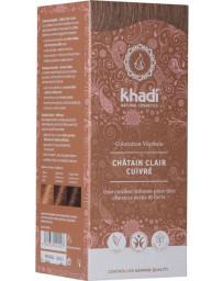 Khadi Coloration végétale Chatain Clair Cuivré 100 gr rflets cuivrés acajou Pharma5avenue
