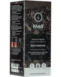 Khadi Coloration végétale Noir Profond 100 gr soin colorant Pharma5avenue