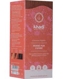 Khadi Coloration végétale Henné Pur cuivré 100 gr reflets cuivres et acajou Pharma5avenue