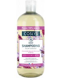 Coslys Shampooing éclat couleur cheveux colorés à l'Immortelle bleue 500ml