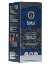 Khadi Coloration végétale Indigo Pur Noir Froid 100 gr teinture capillaire noire Pharma5avenue
