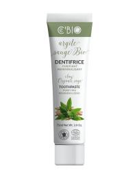 C'BIO Dentifrice Argile Sauge bio purifiant 75 ml reminéralisant blancissant Pharma5avenue