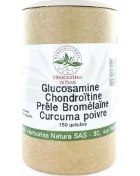 Herboristerie de paris Glucosamine chondroïtine Prêle Bromélaïne Curcuma Poivre 150 Gélules