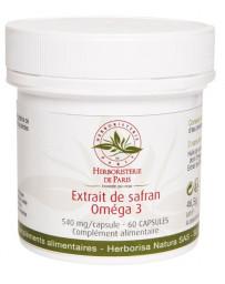 Herboristerie de Paris Extrait de Safran Oméga 3 60 capsules