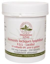 Herboristerie de Paris Ferments lactiques lyophilisés F.O.S Lactilol 200 Gélules flore intestinale Pharma5avenue