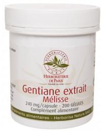 Herboristerie de Paris Gentiane Extrait Mélisse 200 Gélules mémoire concentration intellect Pharma5avenue