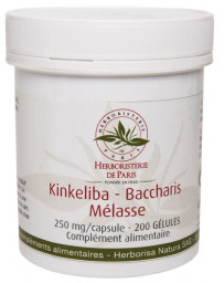 Herboristerie de Paris Kinkeliba Baccharis Mélasse 200 Gélules