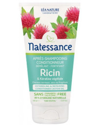 Natessance Après Shampoing conditionneur démêlant fortifiant Ricin Kératine Végétale 150 ml Pharma5avenue