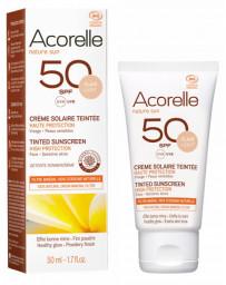 Crème Solaire teintée claire SPF 50 50ml Acorelle - cosmétique biologique - maquillage bio Pharma5avenue
